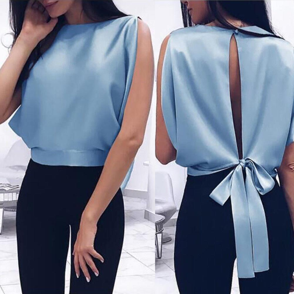 Blouses & Shirts Sky blue / S Ladies Casual Blouse Fashion Shirt
