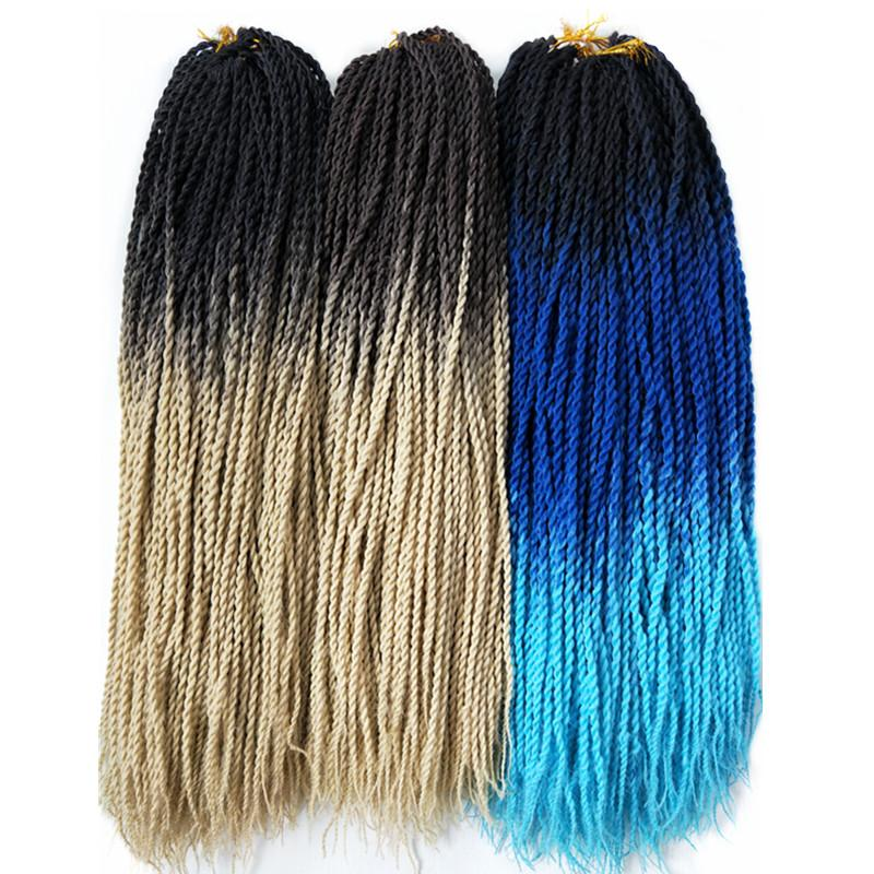 Senegalese Twist Braids T1B/613 / 24inches / 1Pcs/Lot 1 Pack Synthetic Senegalese Twist Braids Extensions