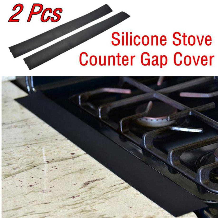 Silicone Stove Counter Gap Cover Easy Clean Heat Resistant