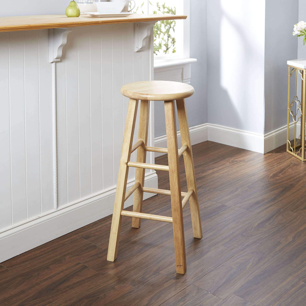 "Mainstays 29"" Natural Wood Barstool by Mainstays"