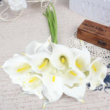 2pcs Real Feel  Artificial Flowers Calla Lily