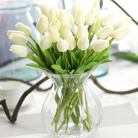 Tulips Artificial Flowers for Home Wedding  31 pieces