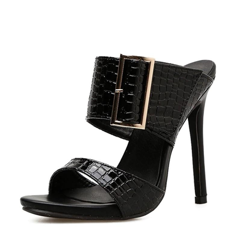 Sexy Thin Heels Women  Buckle  Sandals Shoes