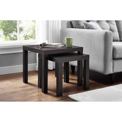 Wood End Tables Nesting Tables 2-Piece Mainstays Wooden Living room Furniture