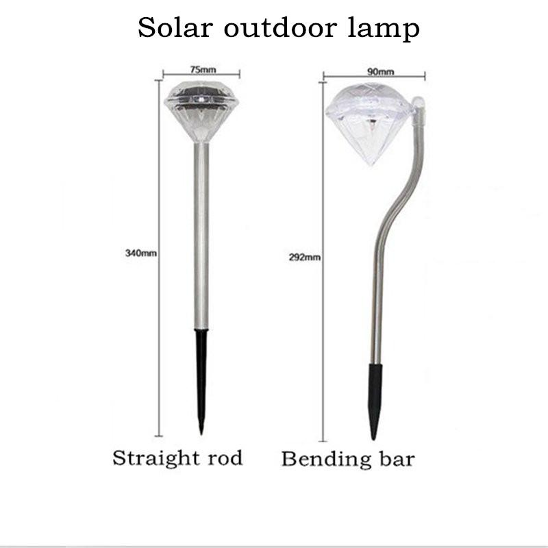 4pcs Diamond  LED  Solar Lawn Lamp