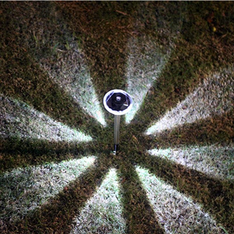 Straight bar / Cool white 4pcs Diamond  LED  Solar Lawn Lamp