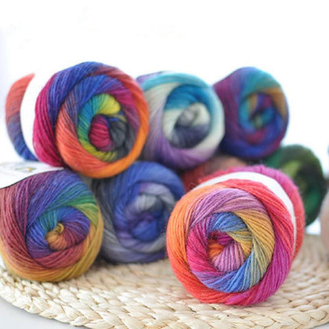 Chunky Wool Ball Colorful Knitting Crochet Yarn