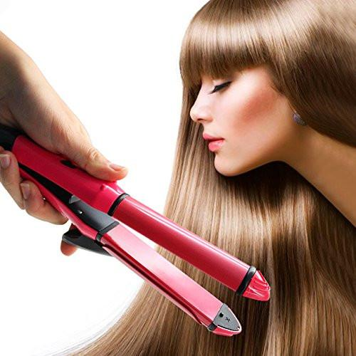 Hair Straightener, 2 in 1 Flat Iron Ceramic Hair Straighteners & Curls