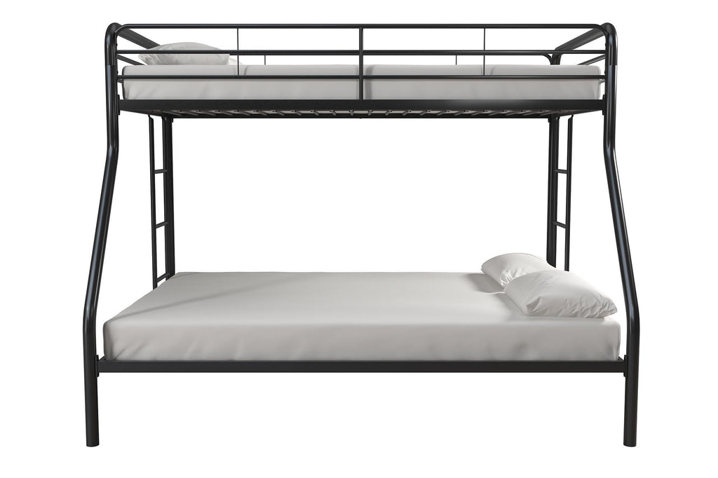 Bunk Beds Twin Over Full Metal Bunk Bed Frame by DHP Actual Color Black