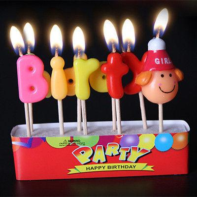 Birthday Cake Candles Colorful Lovely Assorted Topper