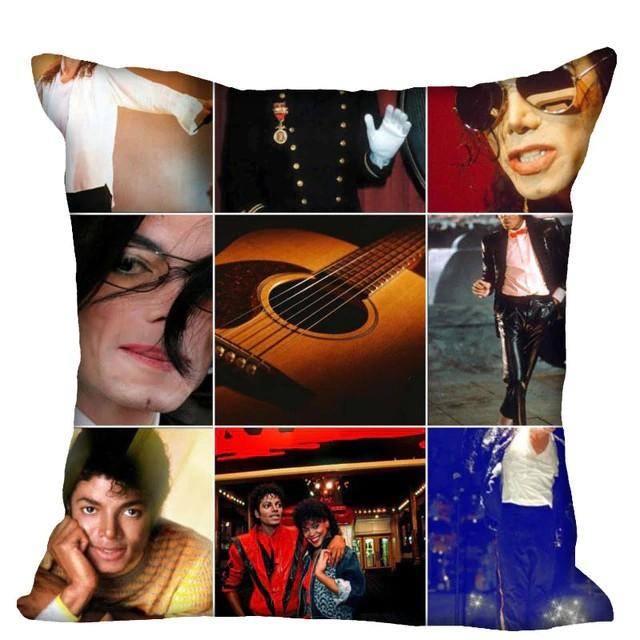 Pillow Case Custom / 35X35cm two sides Pillowcase Michael Jackson Zippered