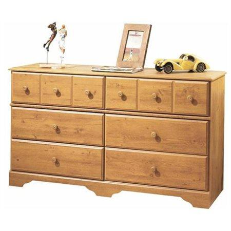 Kids' Dressers & Armoires Country Pine South Shore Little Treasures 6-Drawer Double Dresser by South Shore