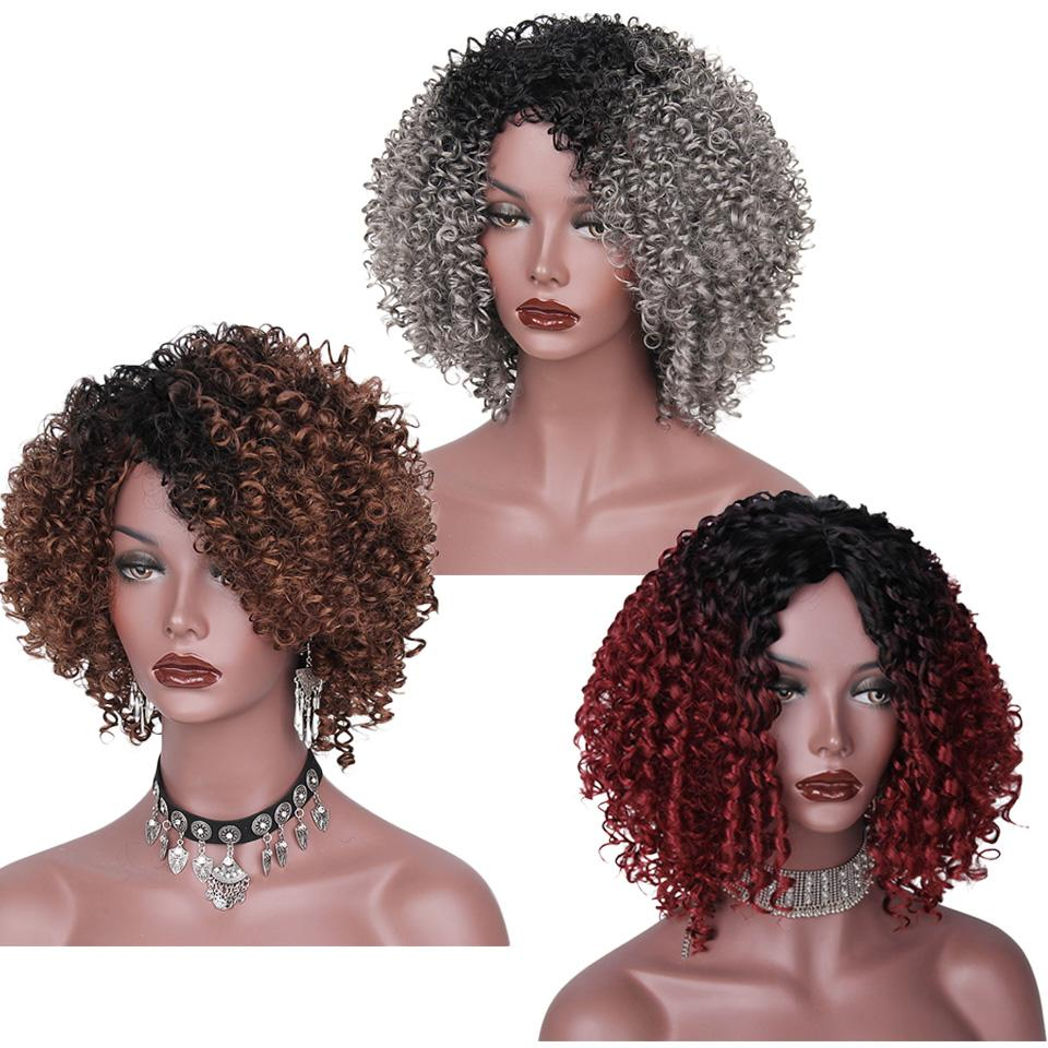 Afro Curly  African American Hair Wigs
