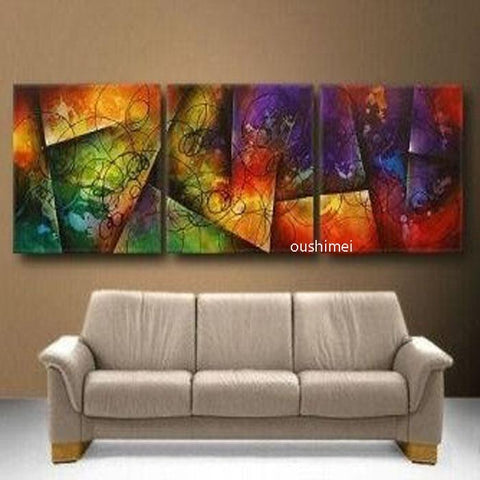Abstract Paintings Wall Art Oil Painting Unframed