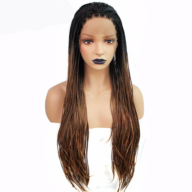 Brown Ombre Synthetic Braided Lace Front Wig