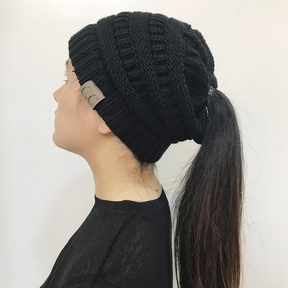Warm winter knitted Chunky Soft Slouchy Beanie