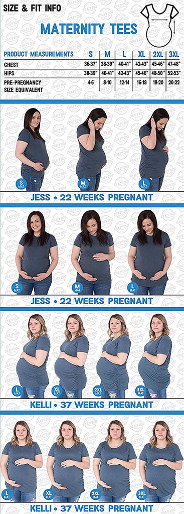 Tees white / S Maternity T-Shirt Calendar Countdown Pregnancy
