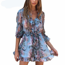 Boho chiffon short Party dresses Vintage Summer Dress women