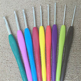 Mixed Metal Hook Crochet needles  9PCs