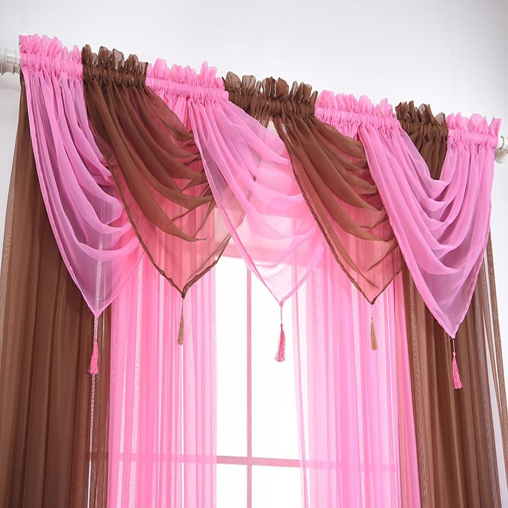 Curtains for the Bedroom  Valance Solid Colors