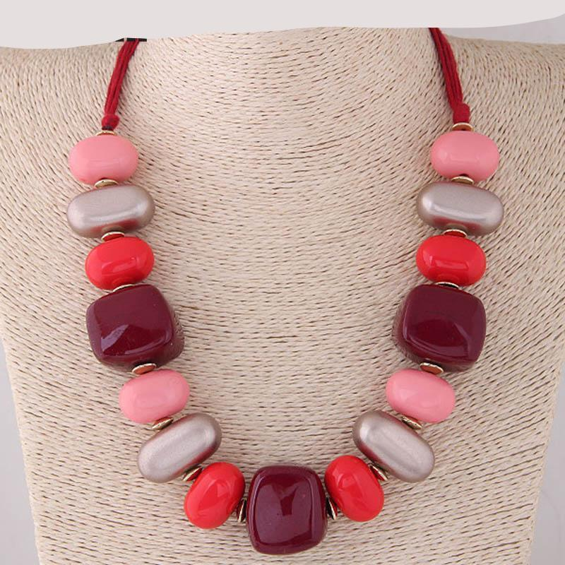 Bohemian Statement Necklace Chunky Choker