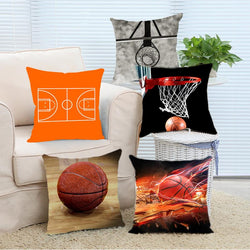 Basketball  Square Zippered Soft Throw Pillowcase