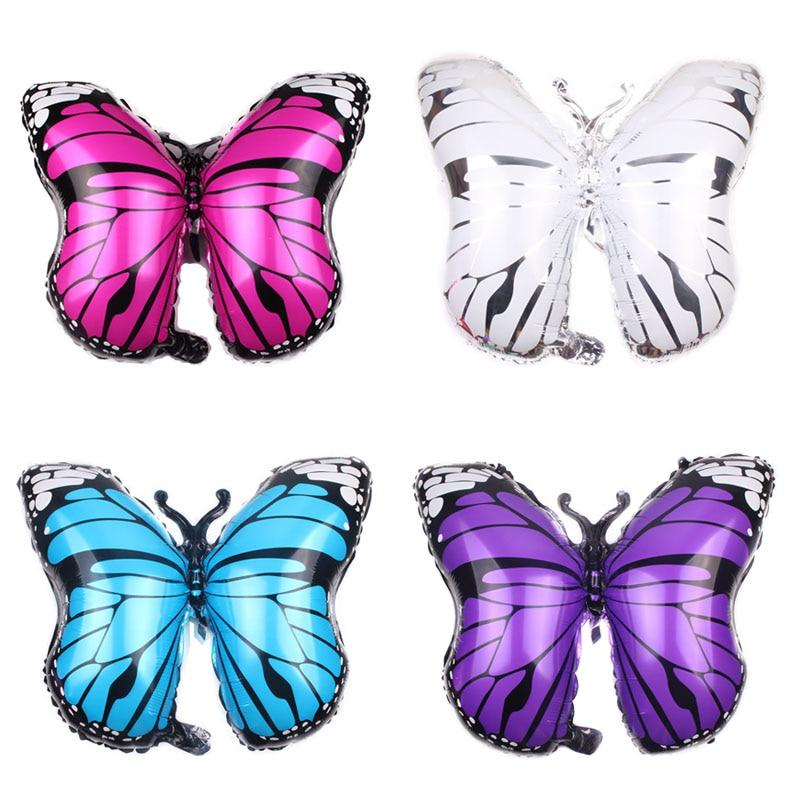 violet Butterfly Foil Balloons Birthday Party air balloons