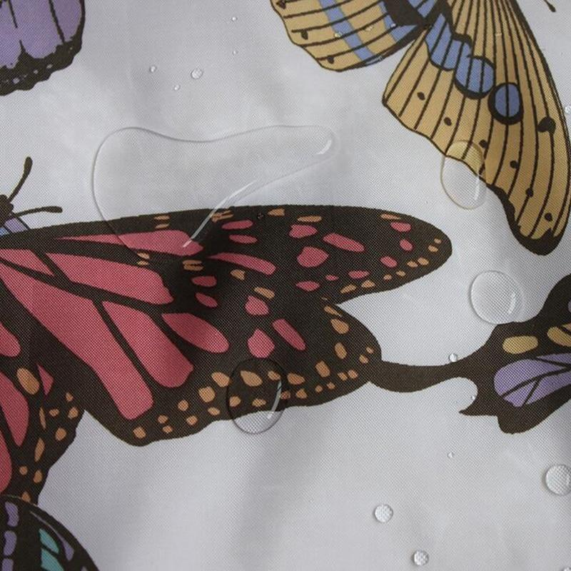 Shower Curtains Butterfly / 180X180 Shower Curtain  Butterfly Print Mildew Proof Polyester