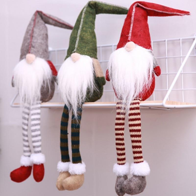 Pendant & Drop Ornaments R Christmas  Long-legged Elf Stocking Decorations