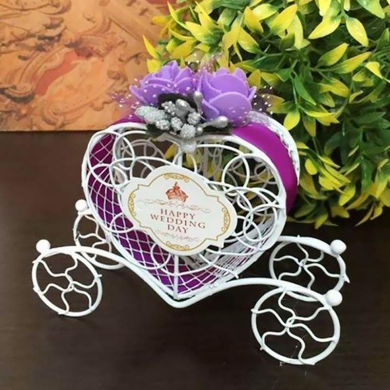 Gift Bags & Wrapping Supplies purple Fairytale  Carriage Candy Chocolate Party Boxes