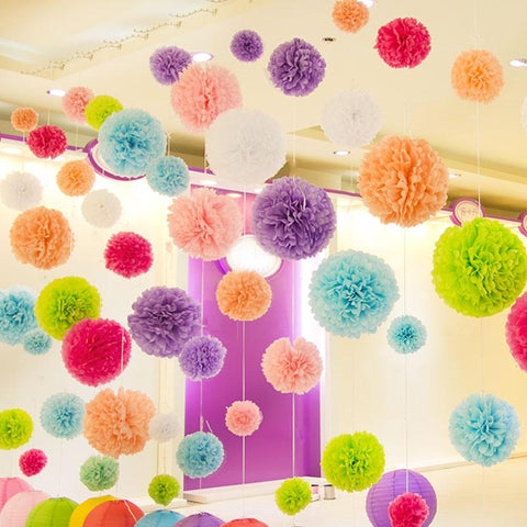 Paper Flowers Ball Wedding Home Birthday Paper Pom Pom Inspirational Clothing And Accessories