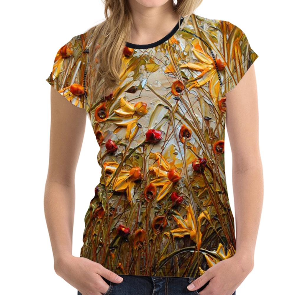 Oil Paintings Tee Shirt Designs For Ladies Inspirational Clothing