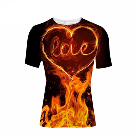 Love  on Fire T-shirt Clothing Unisex