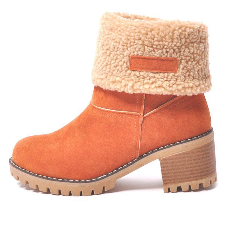 Ankle Boots Ladies  Snow Boots  Thick Bottom Platform Waterproof Ankle Boots