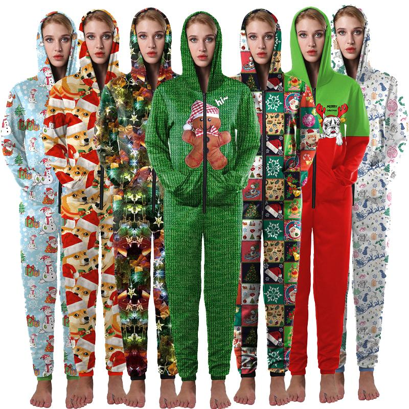 Home Christmas Unisex Onesies Pajama Clothing 001 / S