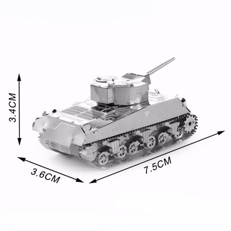 3D Puzzle Jigsaws Metal Toys 8 Styles tankers Toys for Adult