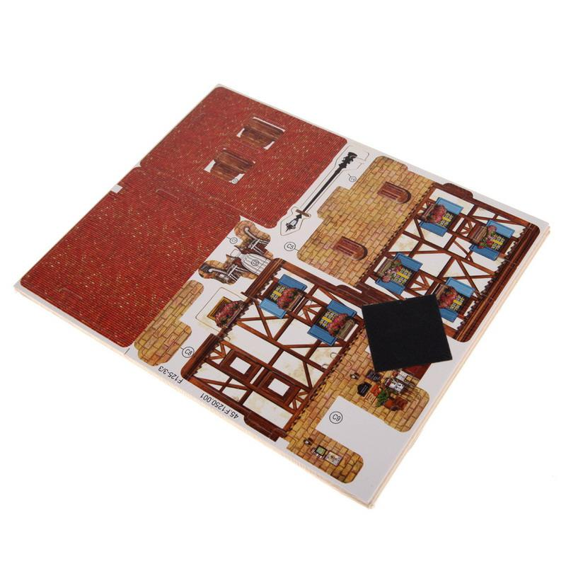 3D Wood Puzzle  French Style Coffee House