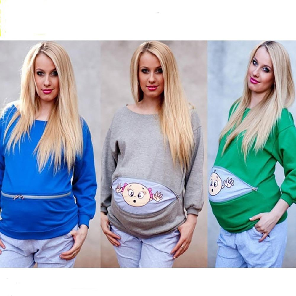 Long Sleeve Maternity Shirts Pregnancy Tees