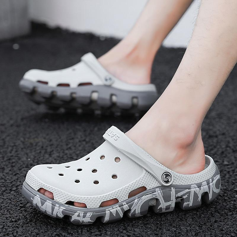 White / 6 Male  Clogs Sandals Casual Summer Shoes