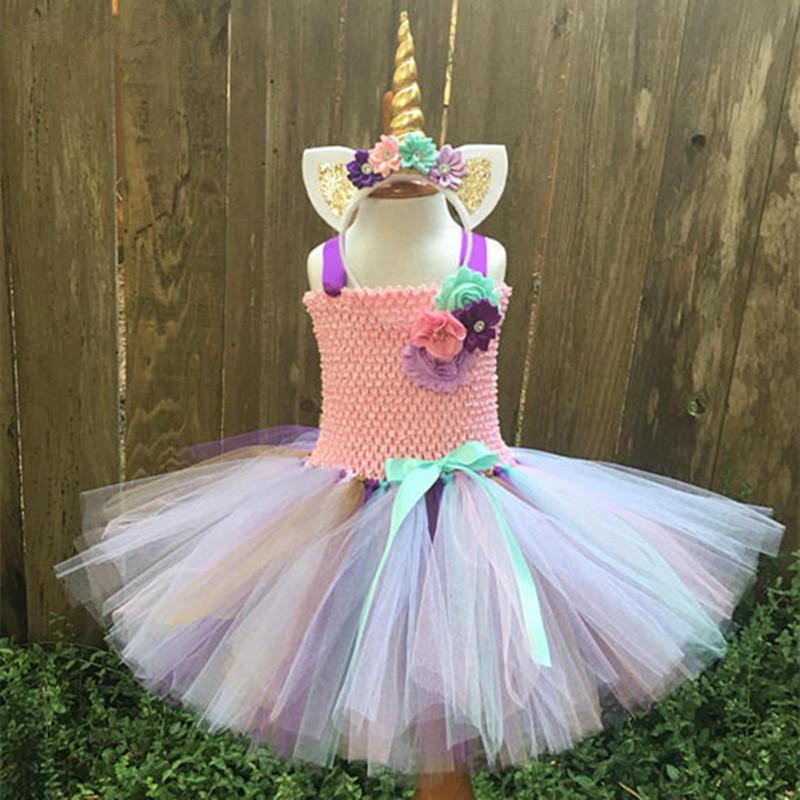 Tutu Dresses  Unicorn Party Dress Toddler Girl Birthday Princess