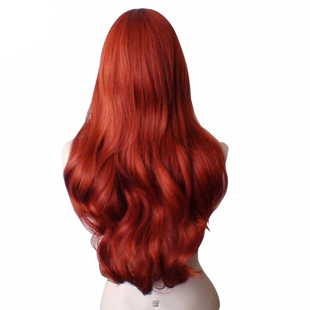 Synthetic Jessica  Rabbit  Wig Copper Red