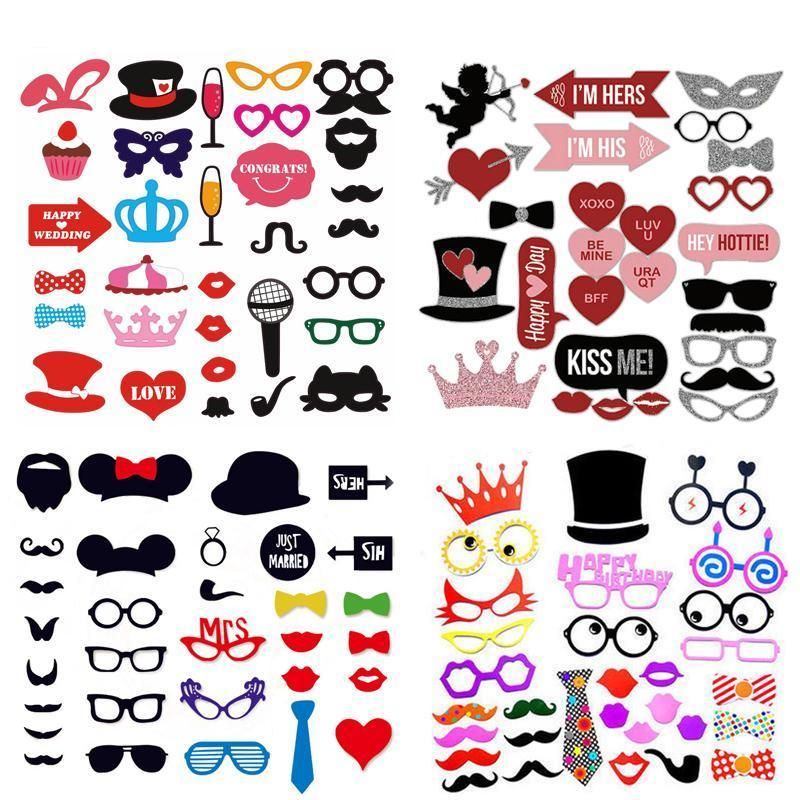 photo booth props party favors bridal shower birthday party supplies