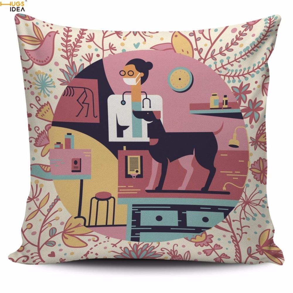 Cushion Cover Custom-DG Printed Cushion Covers Home Decorative Square Throw Pillow Cases