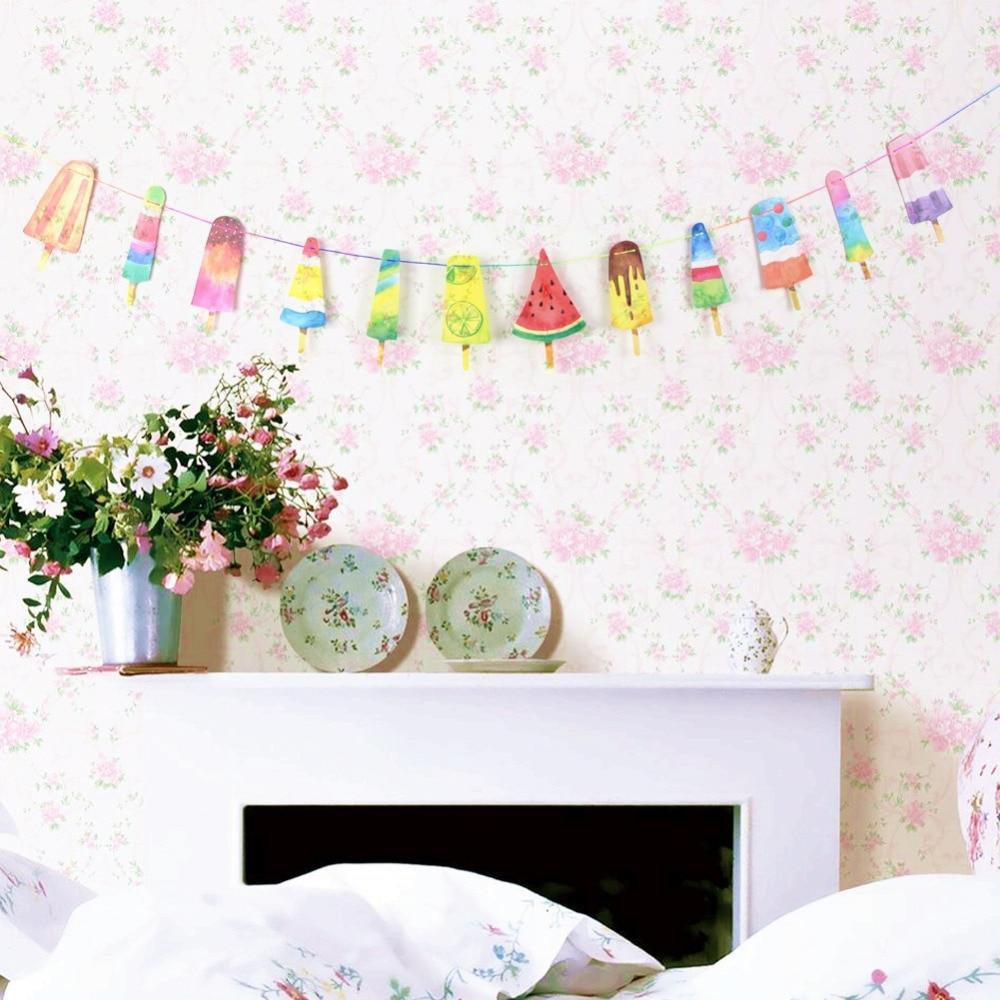 Colorful Popsicle Banner Summer Party  Decorations