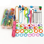 Crochet  Tools Set Circular Latch Hook Needle Weave Accessories in Case