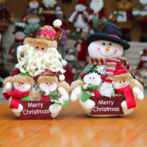 Santa Claus Snowman Christmas Decorations For Home Tree