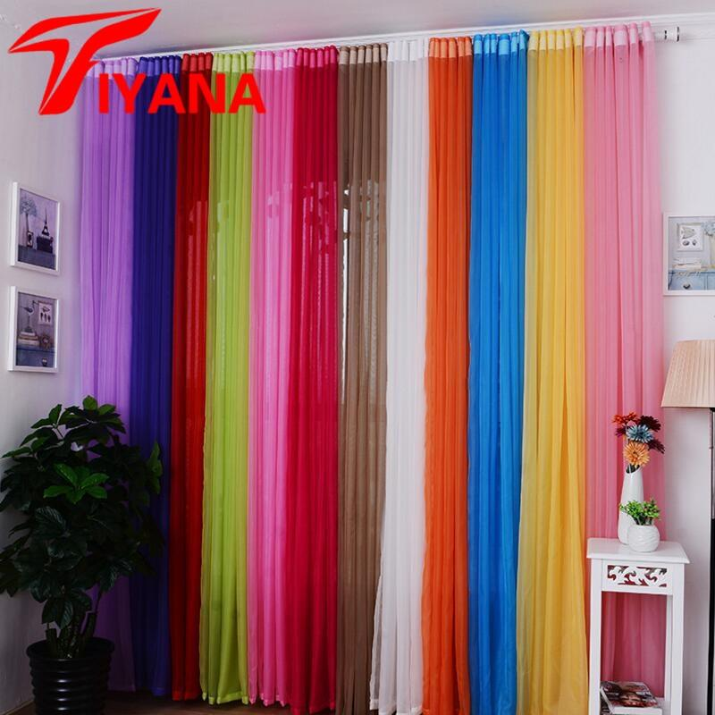 Voile Window Curtains Sheer  Panel Tulle For Home Decor