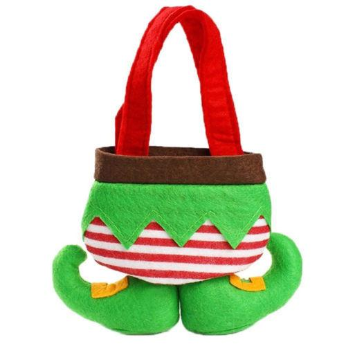 Stockings & Gift Holders Elf Stocking Hanging Socks Gift Bag Christmas Decor