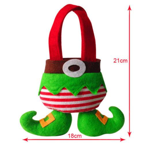 Elf Stocking Hanging Socks Gift Bag Christmas Decor