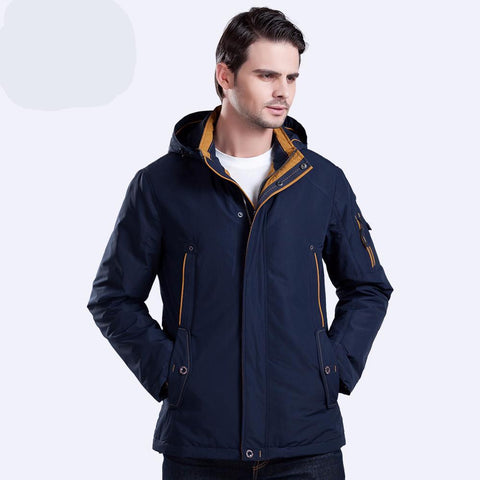 Large Size Polyester Winter Jacket Men Parka Spring Casual Warm Coat
